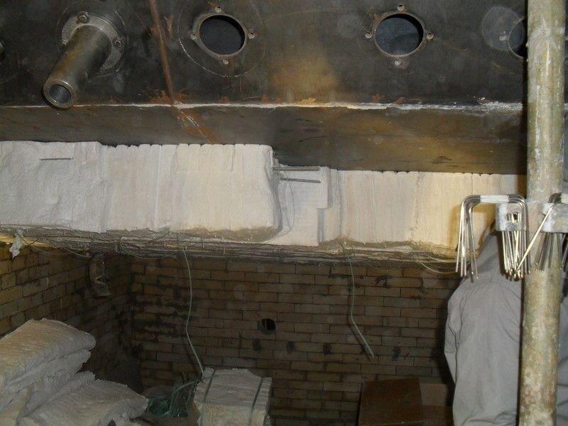 Isolamento térmico forno industrial