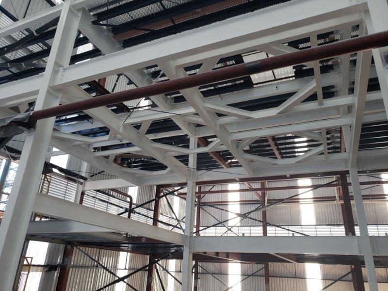 Proteção contra fogo em estruturas metálicas