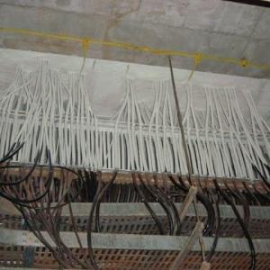 Selagem de passagem de cabos